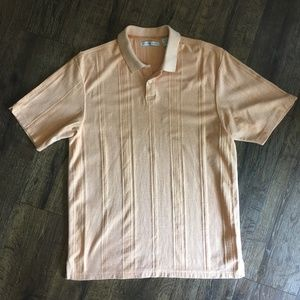 Geoffrey Beene Polo Shirt Orange Short-Sleeve L
